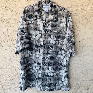 Columbia button down brown tropical s…